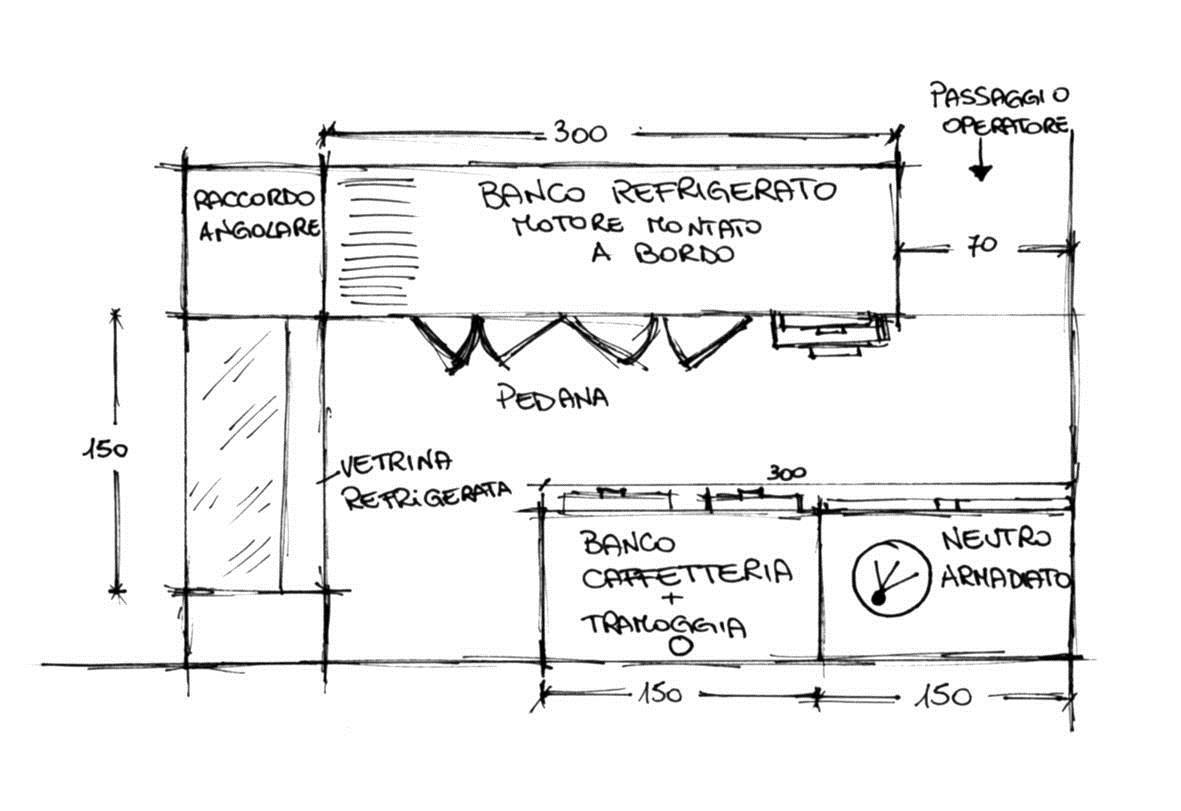 Banconi bar preventivo per banchi bar for Arredo bar dwg